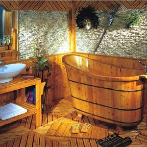 Bañeras rústicas, baños rústicos y bañeras exentas de madera