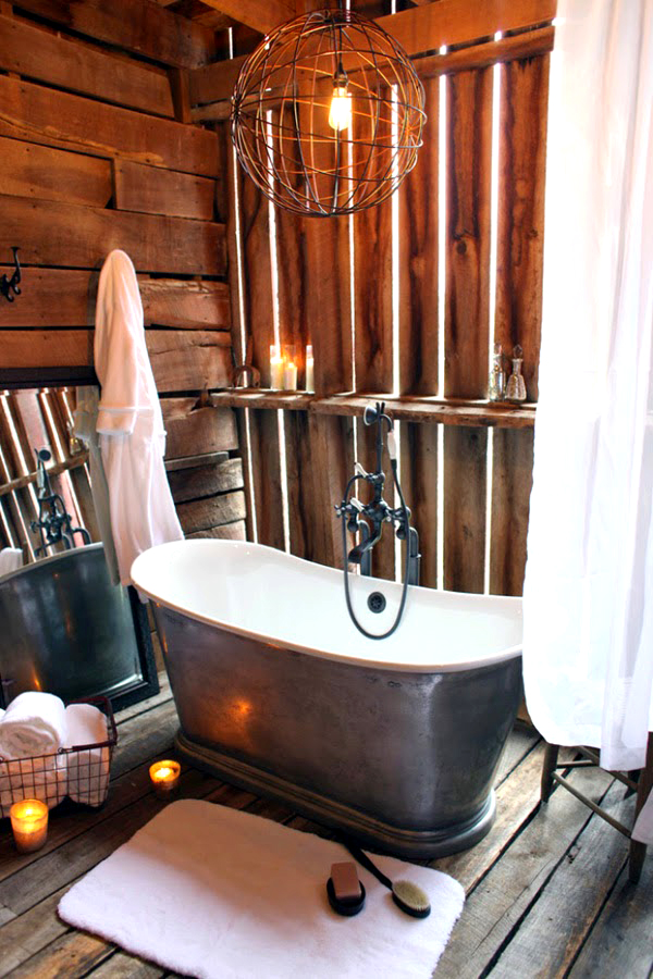 Un cuarto de baño rústico ambientado en lo natural - Bañeras de ...
