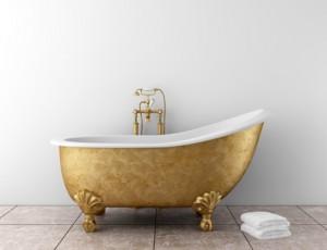 Bañeras exentas y vintage para baños con encanto