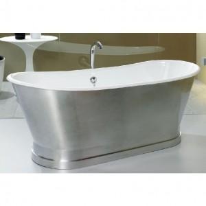 Bañera de faldón modelo Berlin con el faldón exterior de aluminio