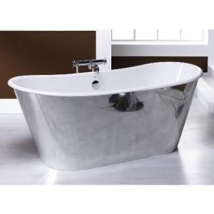 Bañera de faldón modelo Praga con el faldón exterior de aluminio