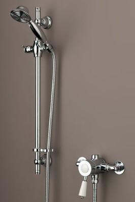 Equipo de ducha termostático con mango ajustable Colonial
