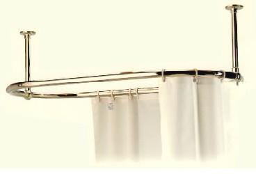 Barra riel para cortina ovalada ba eras de patas y for Cortina para claraboya de techo